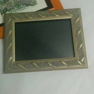 """Other - Silvery Gold-tone Picture Frame 7"""" x 9"""""""
